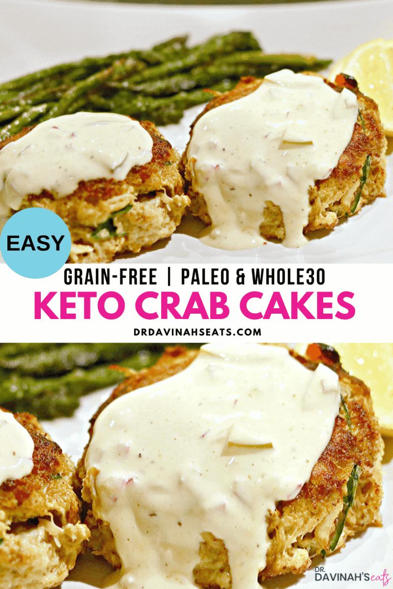 Keto Crab Cakes Pinterest Image