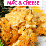 Pinterest image for Cauliflower Mac and Cheese