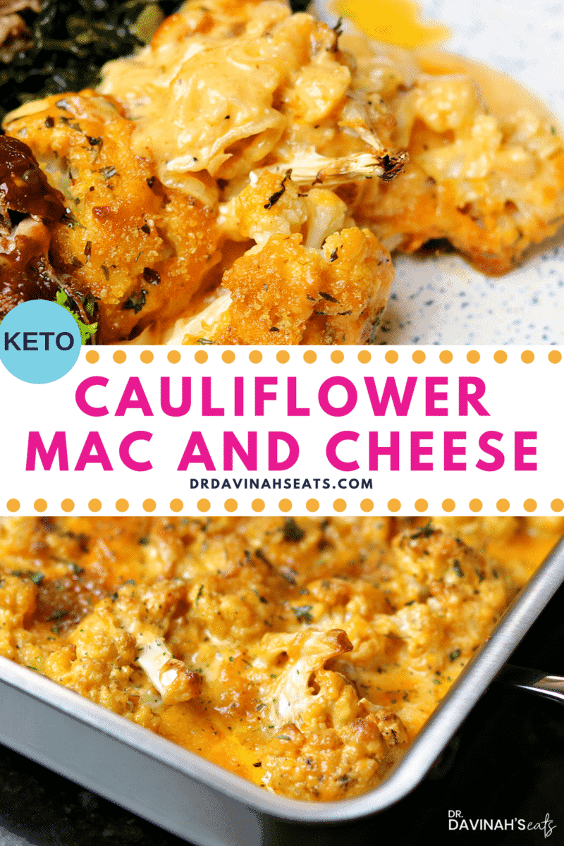 Pinterest image for Low Carb Mac n' Cheese