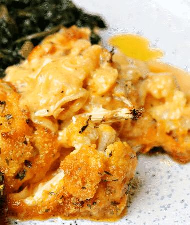 Keto Mac n' Cheese on a plate