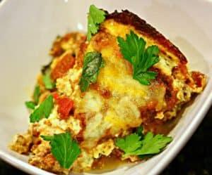 Keto Lasagna in a bowl