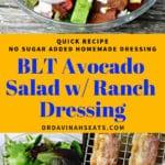 pinterest image for BLT Avocado salad