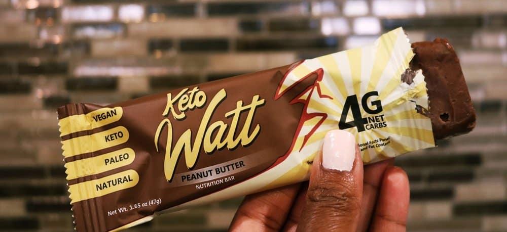 Review - Keto Watt Peanut Butter Bars   Dr  Davinah's Eats