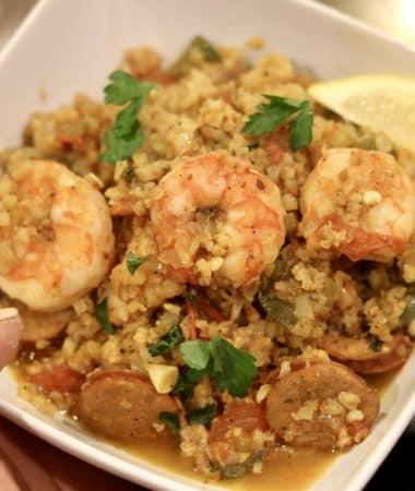 Quick Jambalaya w/ Cauliflower Rice