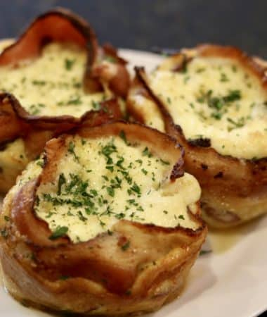 Quiche in a Bacon Cup