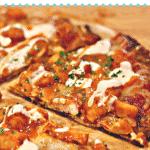 Pinterest image for Keto Buffalo chicken pizza