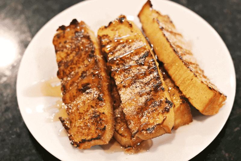Keto French Toast Sticks recipe on a plate
