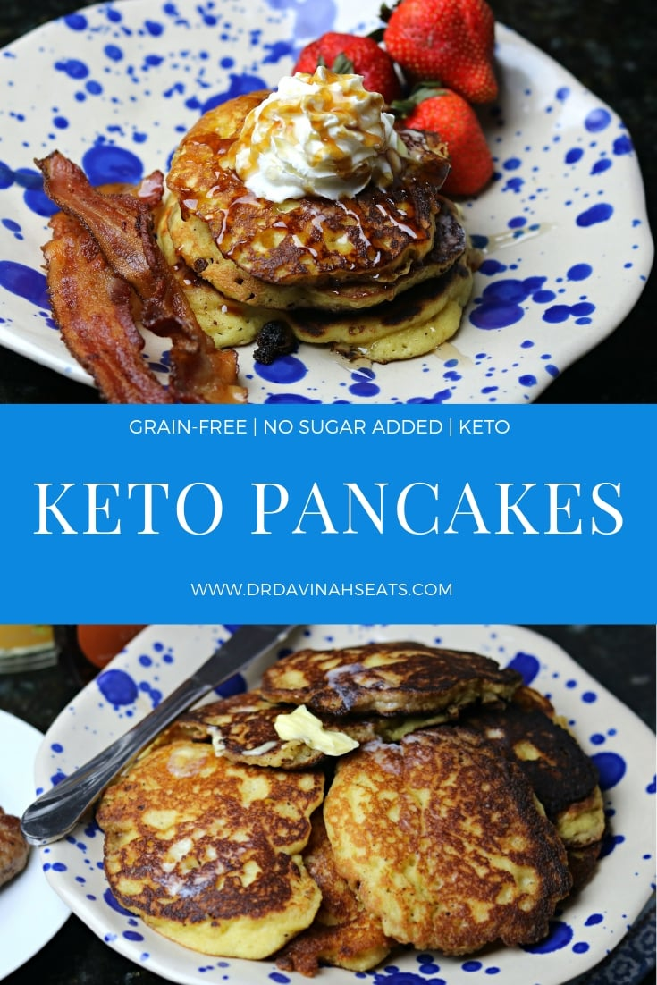 A Keto Pancake recipe that is easy to make, fluffy, and delicious.