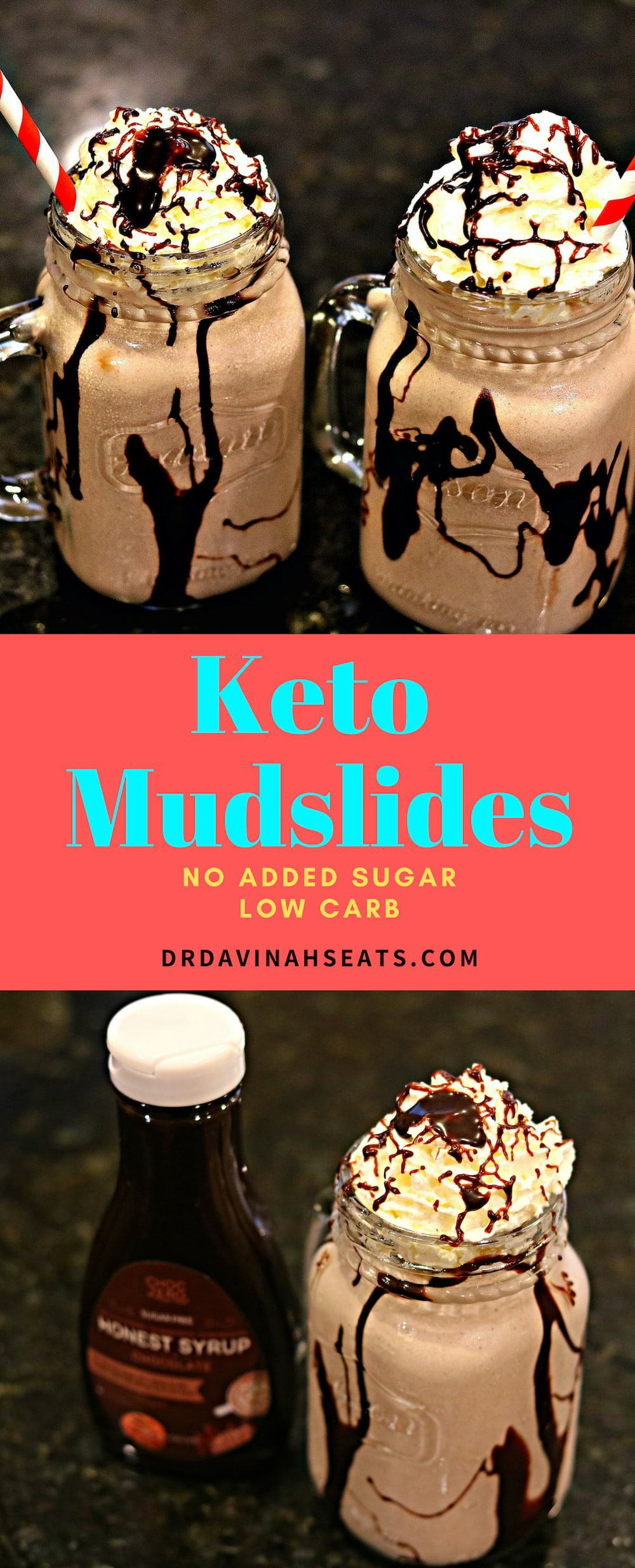 A keto-friendly and low carb remake to a mudslide drink that includes vanilla ice cream. This version has no sugar added and a rich chocolate taste. Tips to make an adult-only version are included. #keto #ketodrink #ketoshake #nosugaradded #ketodessert