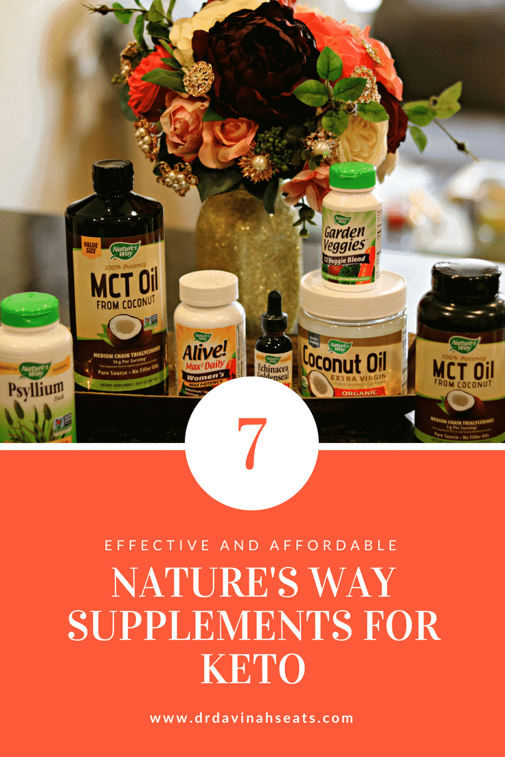 A Pinterest image for Seven Effective and Affordable Nature's Way Supplements for Keto