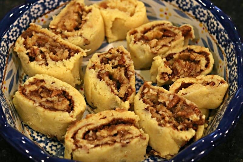 A quick, keto-friendly recipe for cinnamon rolls that uses a modified version of fathead dough. I top these with maple cream cheese icing! #keto #ketodessert #ketocinnamonrolls #fatheaddough #lowcarbdessert #glutenfree #noaddedsugar