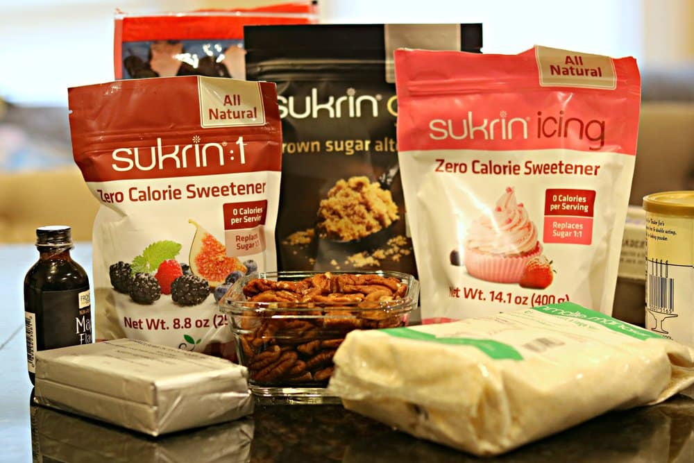 A collection of Sukrin products, which are sugar replacements