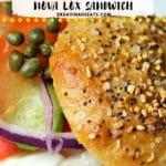 Pinterest image for Keto Bagels Nova Lox sandwich