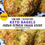 Pinterest Image for fathead dough bagels