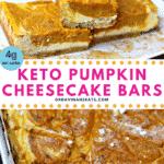 Pinterest Image for Healthy Pumpkin Bars