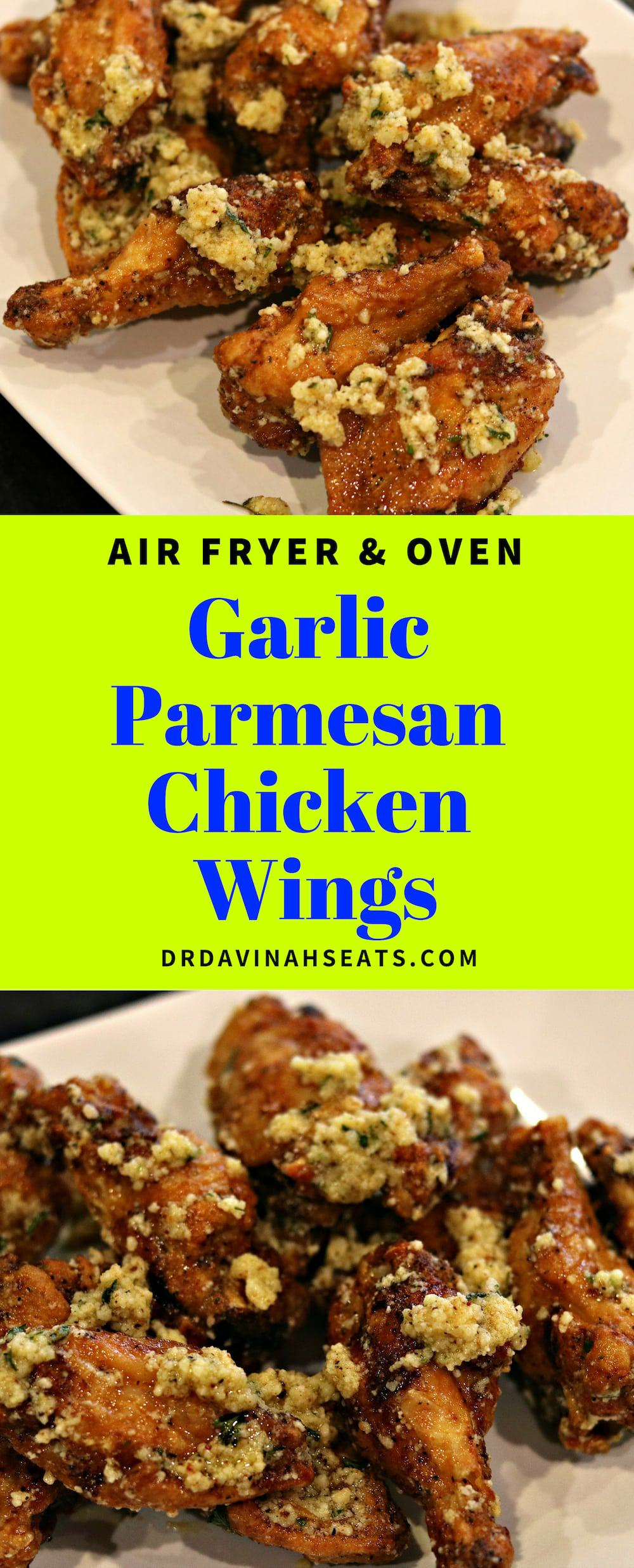 A quick recipe for Air Fryer Garlic Parmesan Wings (Keto Friendly) #chickenwings #garlicparmesanwings #garlicparmesan #keto #lowcarb #airfryerrecipe #airfryer