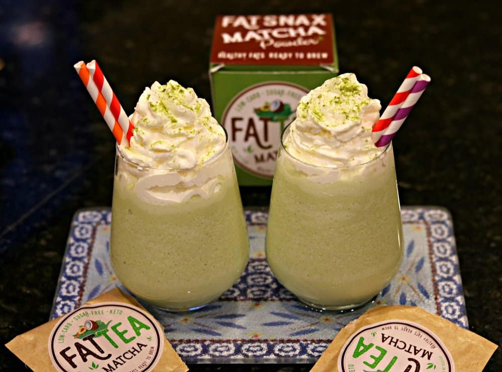 Two Keto Starbucks Green Tea Frappuccino Recipe in cups