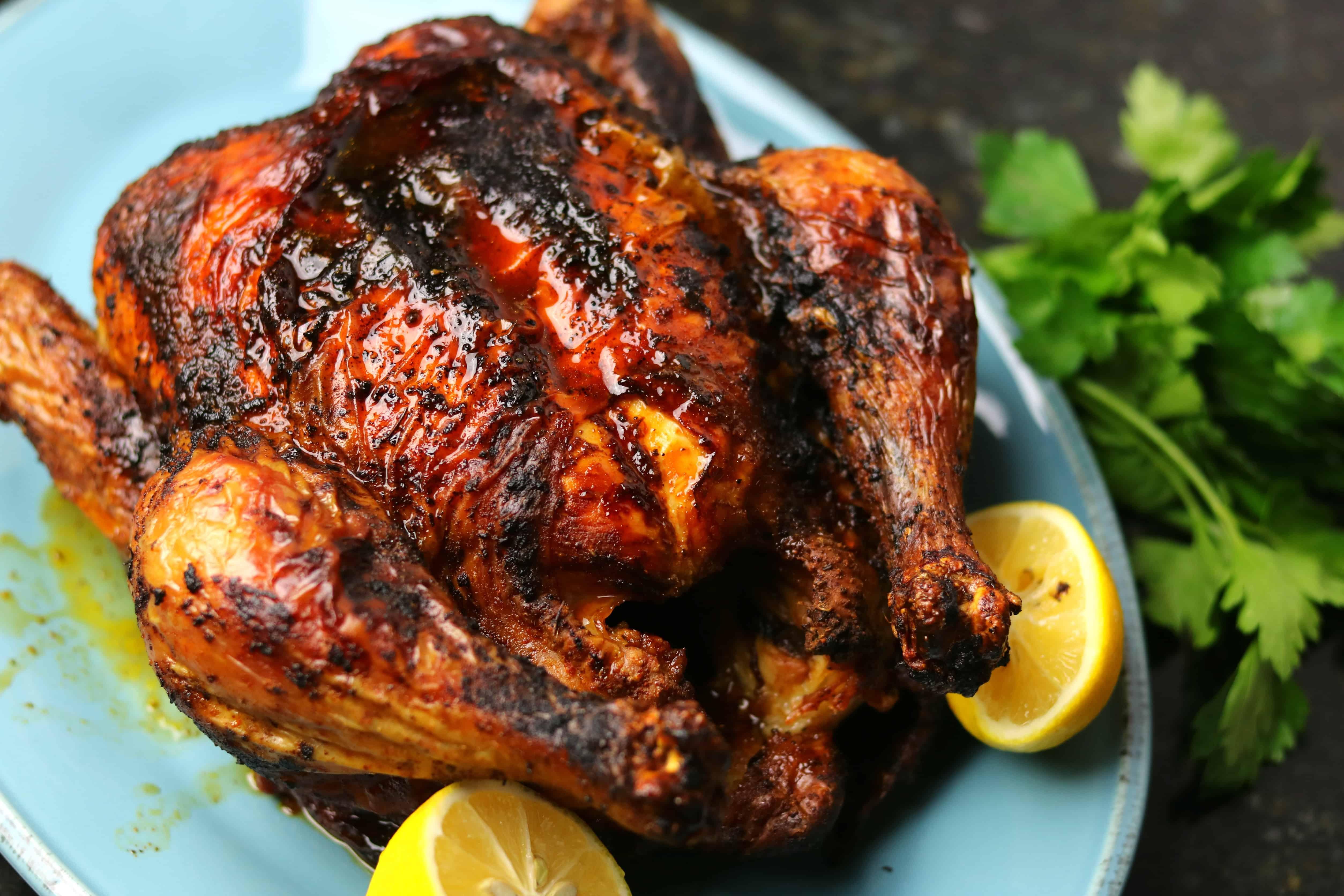 Air Fryer Whole Chicken (Keto & Whole30)   Dr. Davinah's Eats