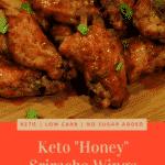 Pinterest Image for honey sriracha wings
