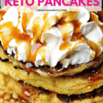 Pinterest image for Keto Pancakes