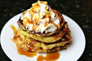 Keto Pancakes on a plate