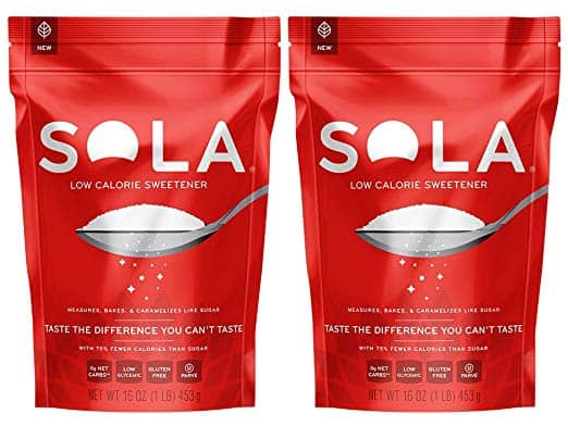 Sola Sweetener as a keto sugar replacement