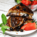 Low Carb Stuffed French Toast on a plate