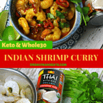 Pinterest image for Shrimp Curry