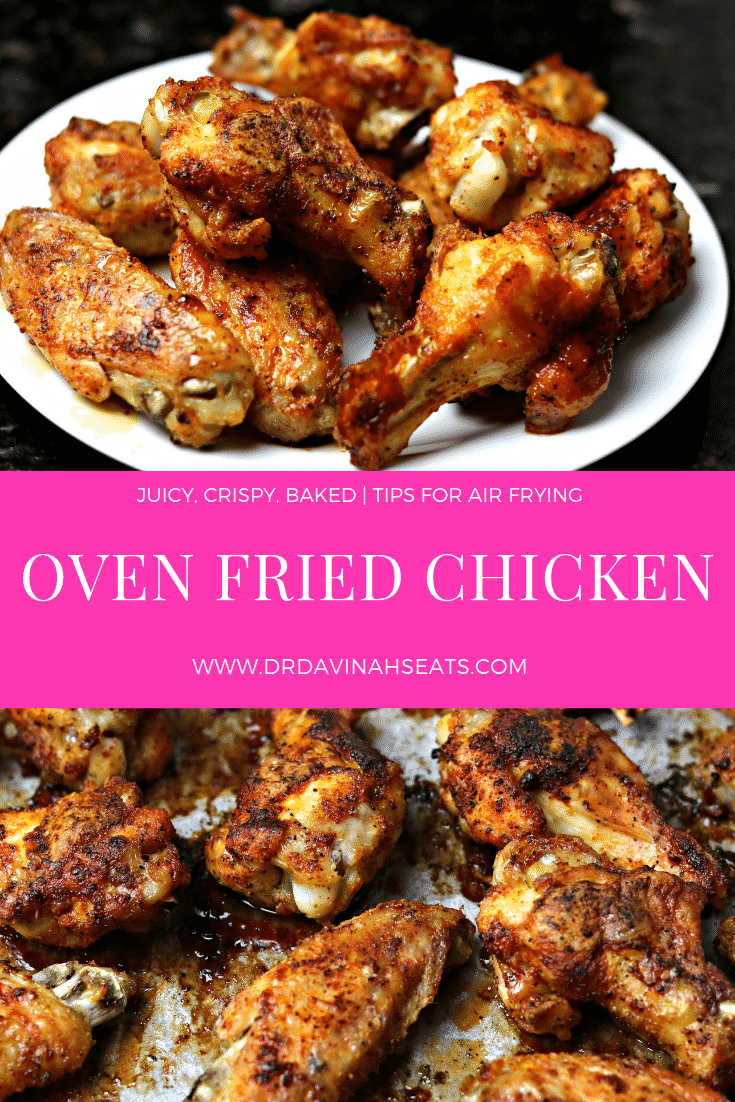 An easy, cheap keto dinner recipe for Oven Fried Chicken Wings. Using a special tip, you get the taste of fried chicken without deep frying.