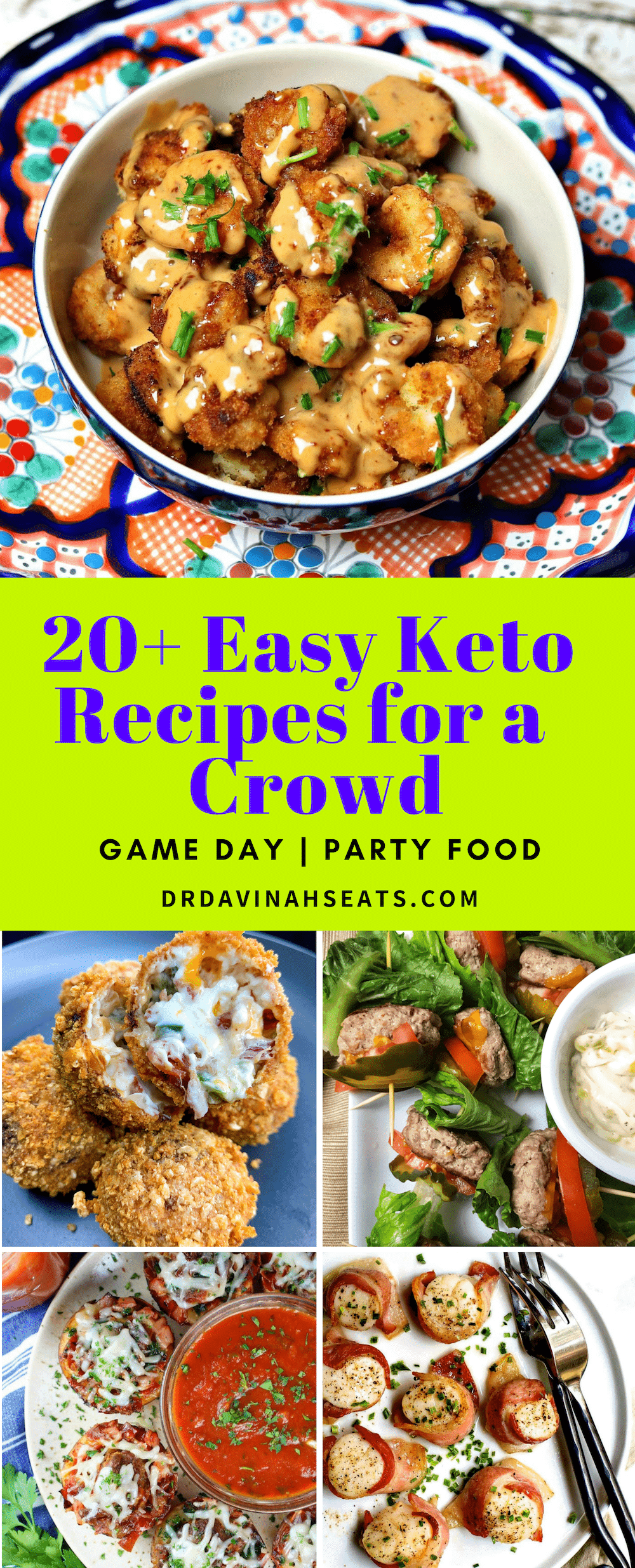 Looking for keto Super Bowl food ideas? Need easy keto appetizers for a crowd? I gather up more than 20 of the best easy keto recipes for a crowd. #keto #ketoappetizers #ketoparty #partyfood #ketorecipes #lowcarbrecipes #foodforacrowd