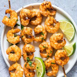 Air Fryer Shrimp Skewers