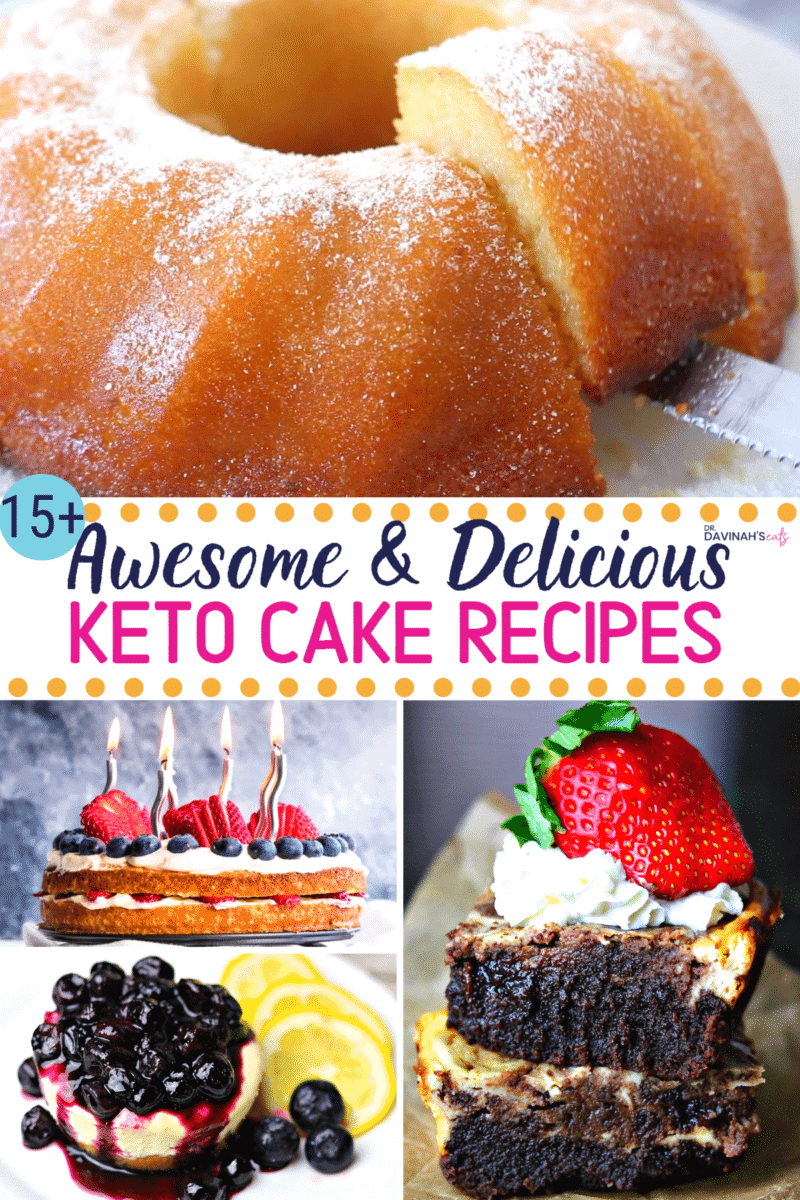Keto Cake Recipes Pinterest image