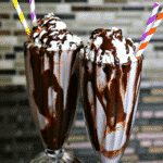Two mudslides from this vodka mudslide recipe