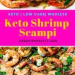 Pinterest Image for Keto Shrimp Scampi