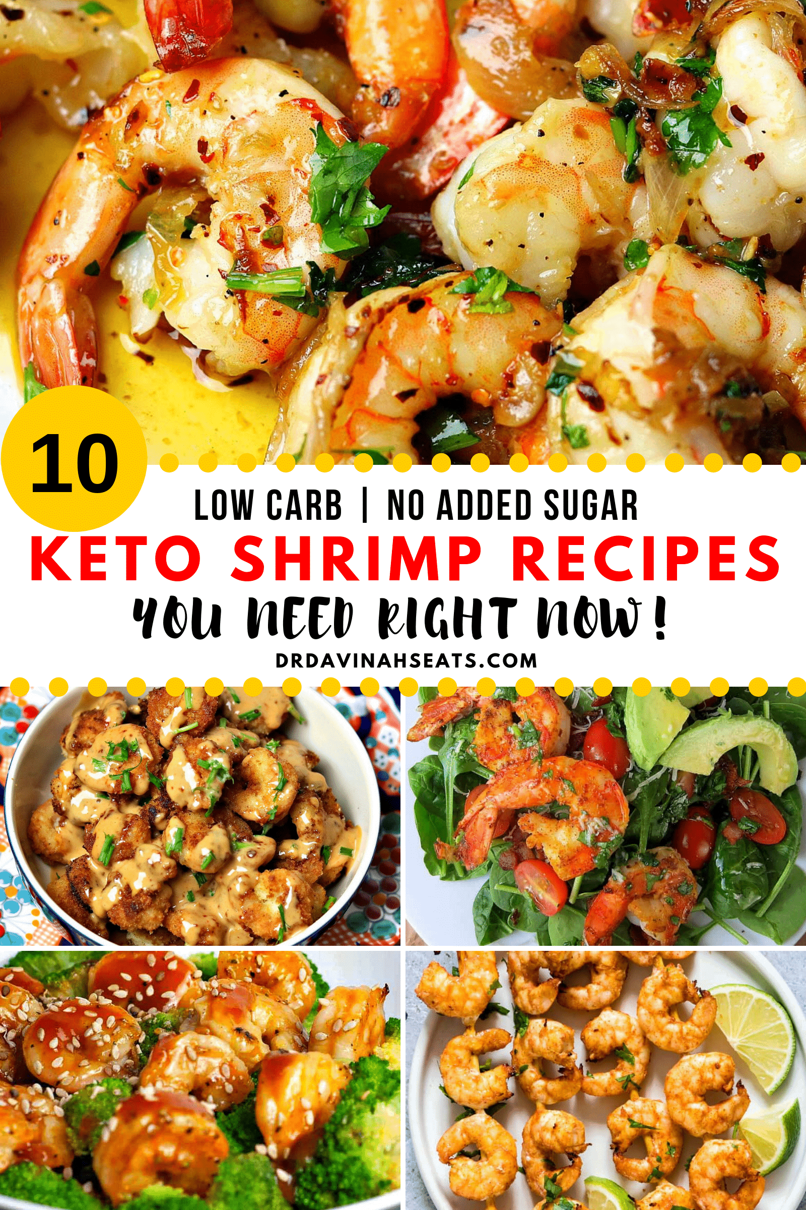 Pinterest Image for 10 Keto Shrimp Recipes