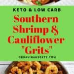 Pinterest friendly image for Southern Shrimp & Grits
