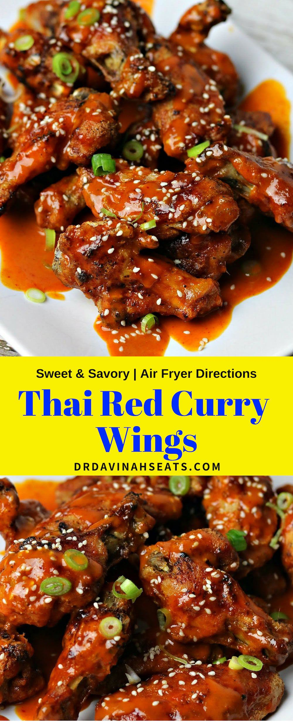 A keto and no sugar added recipe for Thai Red Curry Chicken Wings that was inspired by the Thai Curry sauce from Buffalo Wild Wings. Directions for the air fryer and oven are included. #keto #chickenwings #copycatrecipe #ketorecipes #lowcarbrecipes #redcurry #thaikitchenredcurry