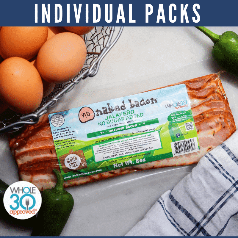 a package of naked bacon