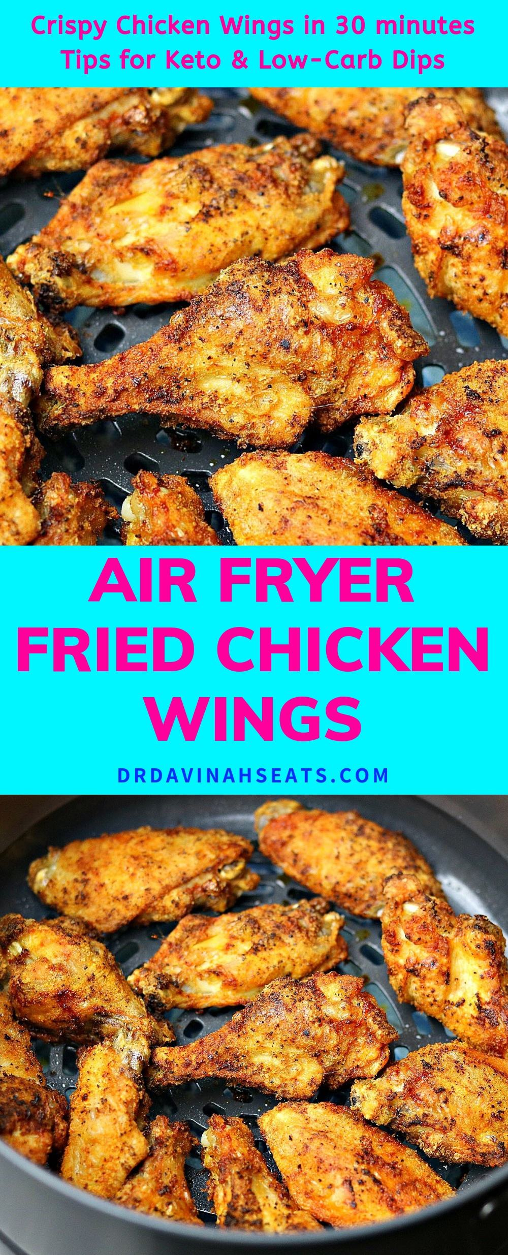 Pinterest Image for Air Fried Chicken recipe