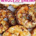 Pinterest image for Easy Whole30 Cast Iron Shrimp