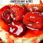 Pinterest image for Gluten free Strawberry Cheesecake
