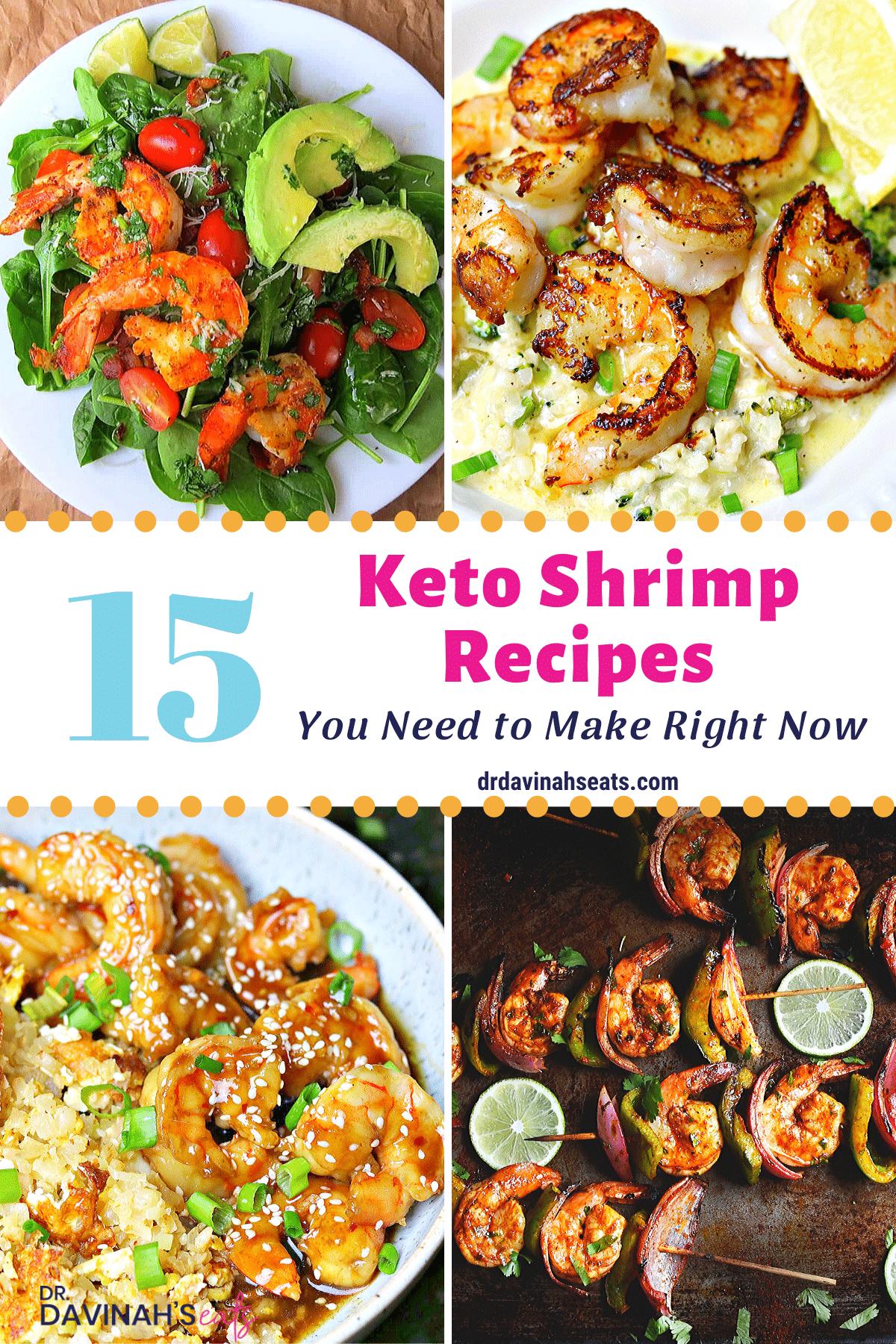 keto shrimp recipes pinterest image