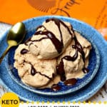 Pinterest image for Keto Peanut Butter Chocolate Ice Cream