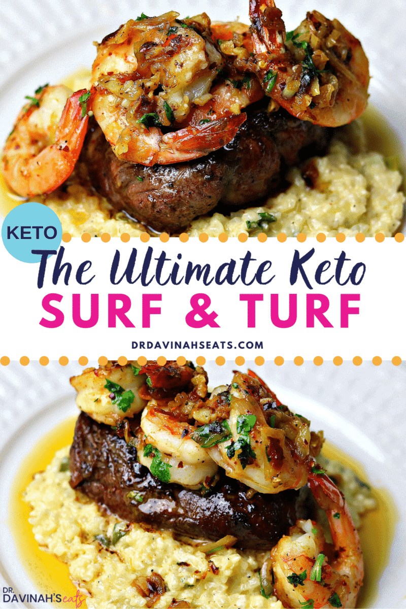 Pinterest image for Keto Surf & Turf