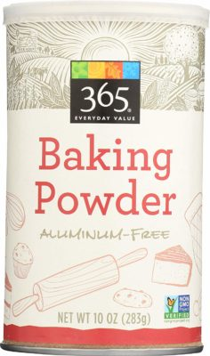 a container of aluminum free Baking Powder