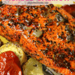Air Fryer Salmon Pinterest image