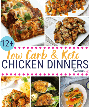 Pinterest friendly image for Keto Chicken Dinners Recipes