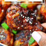 pinterest image for keto sweet chili wings