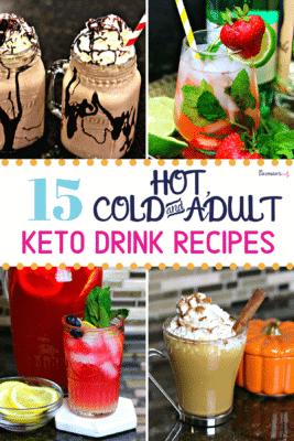 Keto Drink Recipes Pinterest image