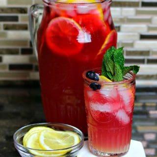 Keto Iced Tea Lemonade in a Pitcher